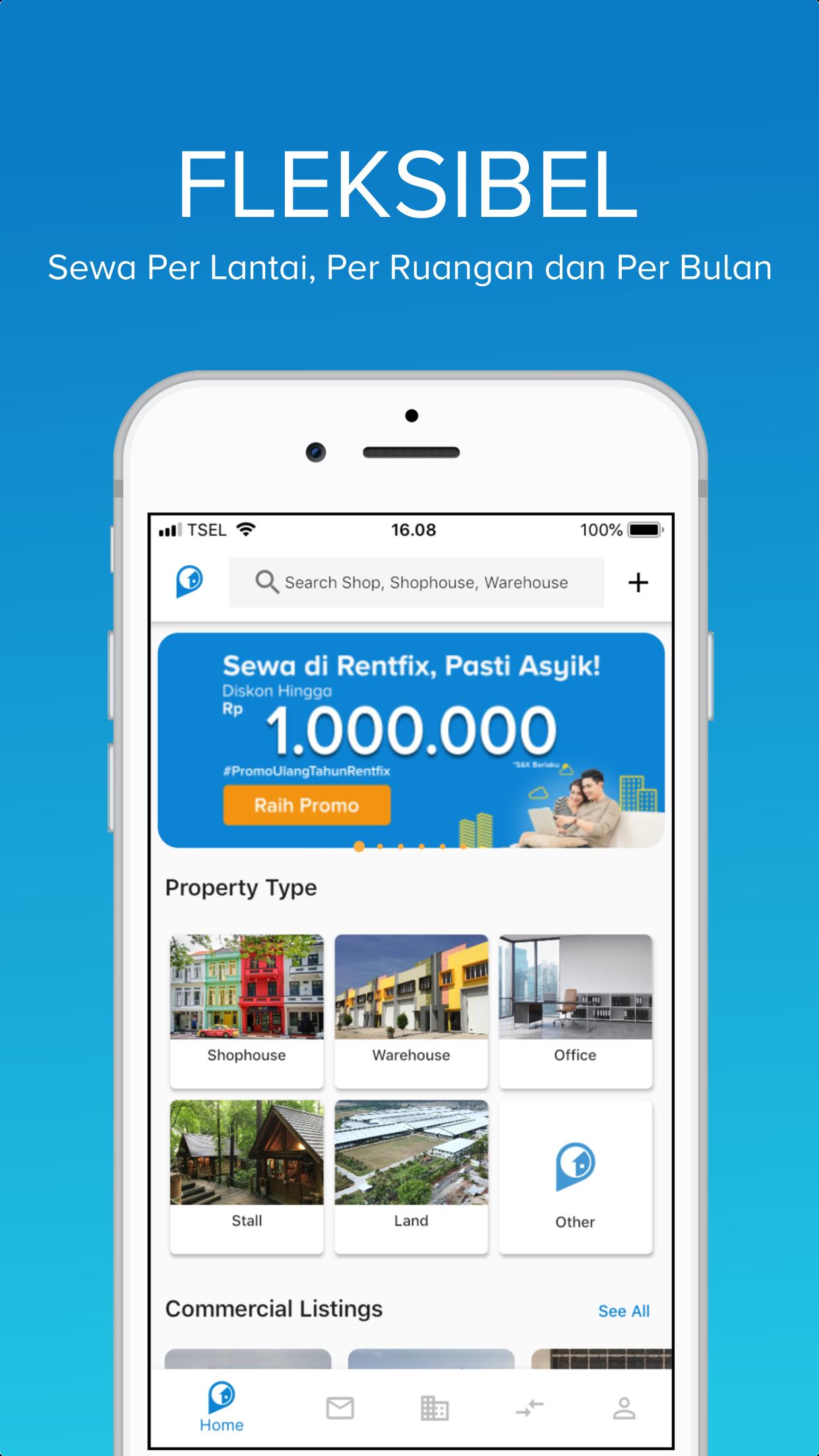 Aplikasi Mobile Versi 2.2 Rentfix, Kian Permudah Urusan Sewa Menyewa Properti