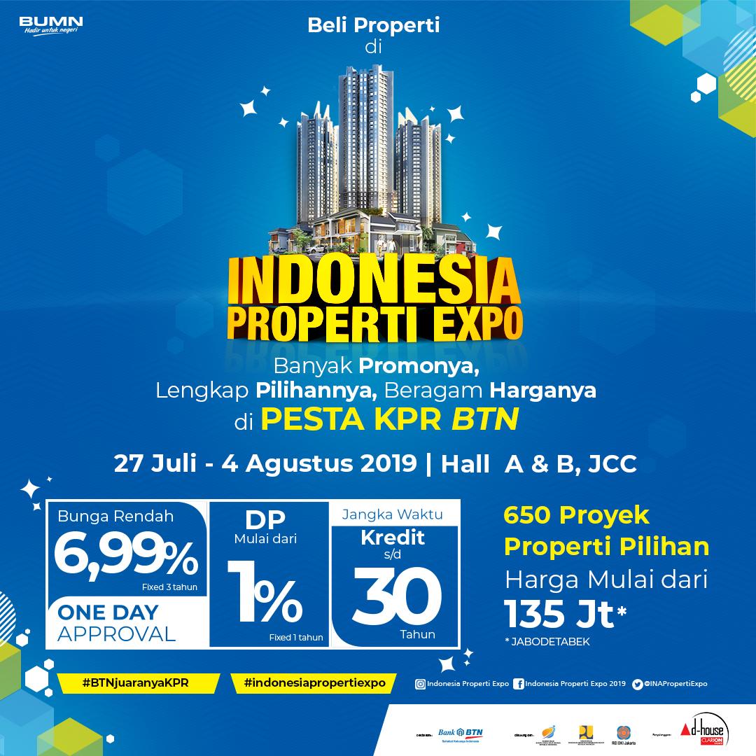 """INDONESIA PROPERTI EXPO, """"Banyak Promonya, Lengkap Pilihannya, Beragam Harganya di Pesta KPR BTN"""""""